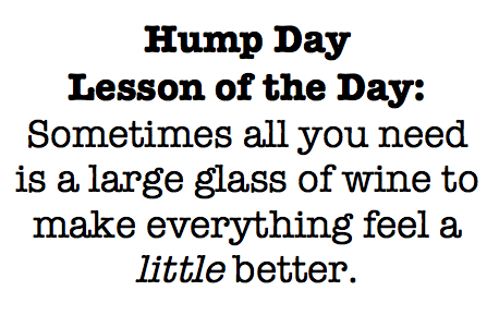 Hump Day Lesson The Ahead And Drink That Glass Wine